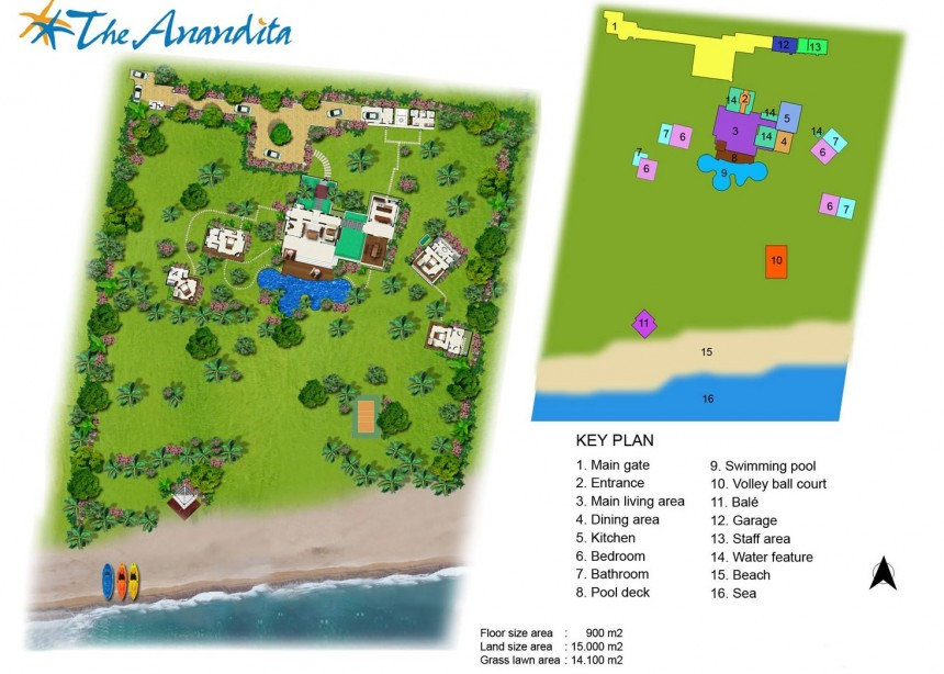 Villa The Anandita Floor Plan